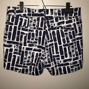 NWT The Limited Navy Patterned Shorts Women's 12